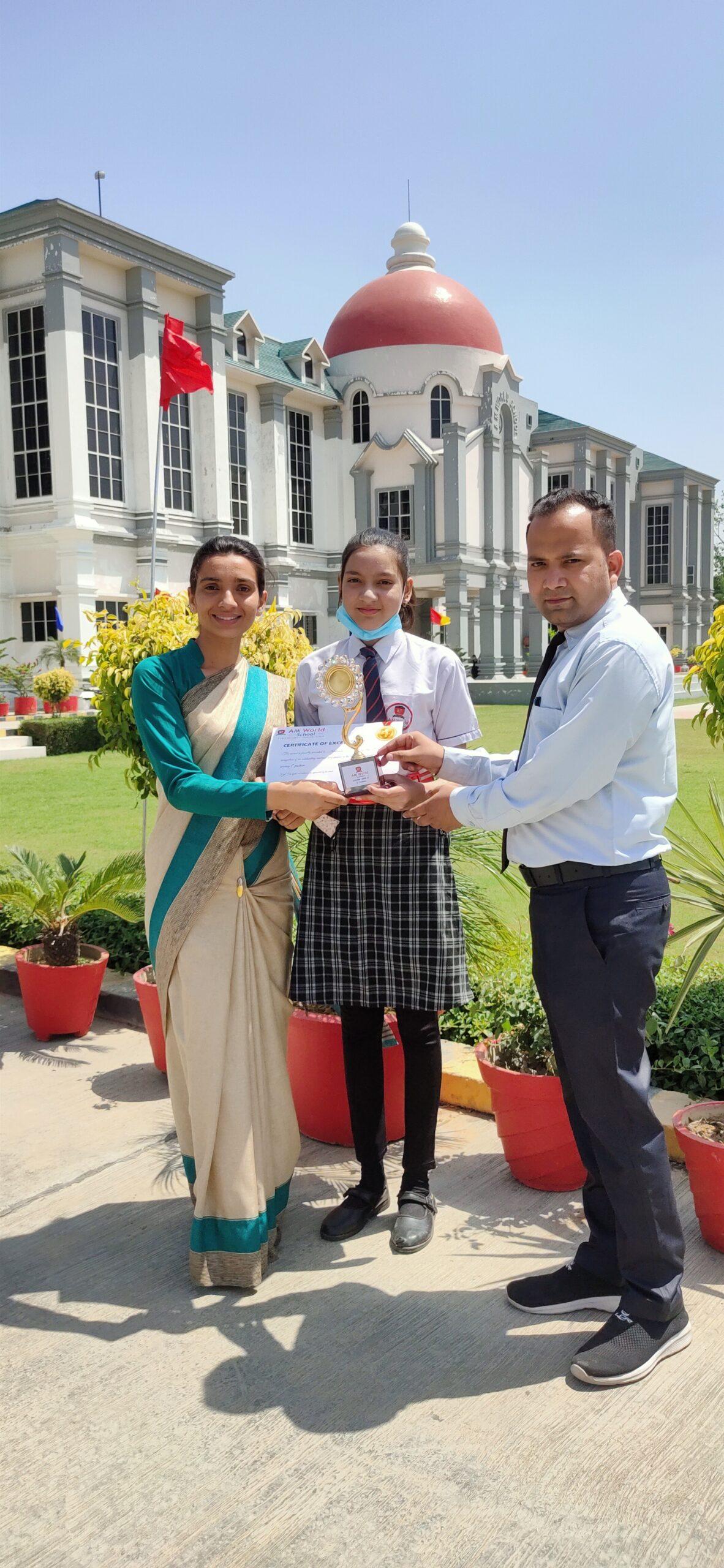 student awarded of am world school